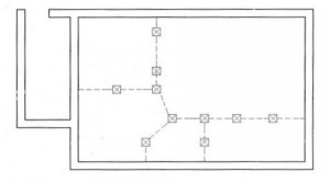 План фундамента над уровнем земли