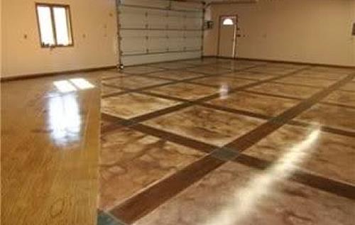 окрашеный бетон